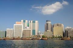 Edificios modernos en Dubai Creek Imagen de archivo