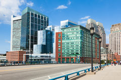 Edificios modernos en el distrito financiero en Boston - los E.E.U.U. imágenes de archivo libres de regalías