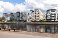 Edificios modernos en Halmstad Imagen de archivo libre de regalías