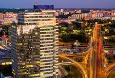 Edificios modernos en la ciudad de Bratislava Imagen de archivo