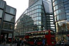 Edificios modernos en Londres central Imágenes de archivo libres de regalías