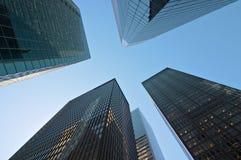 Edificios modernos en Nueva York Foto de archivo libre de regalías
