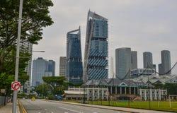 Edificios modernos en Singapur foto de archivo