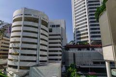 Edificios modernos en Singapur fotografía de archivo