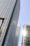 Edificios para las nuevas oficinas Foto de archivo libre de regalías
