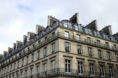 Edificios parisienses en París, Francia Foto de archivo