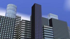 Edificios por mañana libre illustration