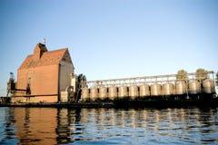 Edificios portuarios. Foto de archivo libre de regalías