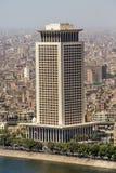 Edificios prominentes de El Cairo céntrico Imágenes de archivo libres de regalías
