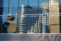Edificios reflejados de Vancouver Fotografía de archivo