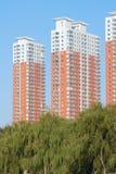 Edificios residenciales Imagen de archivo libre de regalías