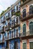 Edificios residenciales coloridos Imágenes de archivo libres de regalías