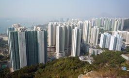 Edificios residenciales de Hong-Kong Imagen de archivo libre de regalías