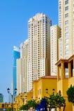 Edificios residenciales de JBR fotos de archivo libres de regalías