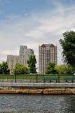 Edificios residenciales en Boston Fotos de archivo