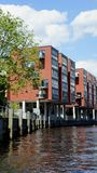 Edificios residenciales en el HafenCity Hamburgo - Alemania - Europa Imagenes de archivo