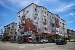 Edificios residenciales en los dos puntos Panamá Imagenes de archivo