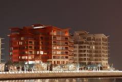 Edificios residenciales en Manama, Bahrein foto de archivo libre de regalías