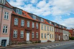 Edificios residenciales en Ringsted Dinamarca Imagenes de archivo