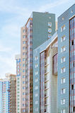 Edificios residenciales urbanos imágenes de archivo libres de regalías