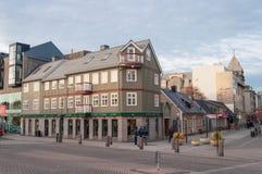Edificios restaurados viejos en Reykjavik Islandia Fotografía de archivo libre de regalías