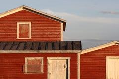 Edificios rojos en Raleigh Fotografía de archivo libre de regalías