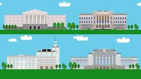 Edificios rusos de la universidad ilustración del vector