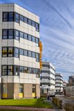 Edificios típicos del hospital en una fila Fotos de archivo libres de regalías