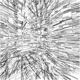 Edificios urbanos abstractos de la ciudad en el vector 134 del caos