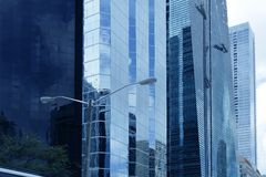 Edificios urbanos céntricos de los rascacielos de la ciudad de Miami Imagen de archivo