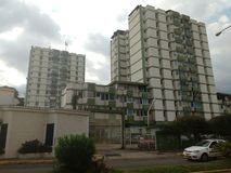 Edificios verdes imagenes de archivo