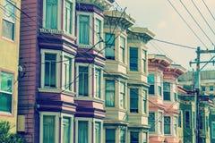 Edificios victorianos en San Francisco Fotos de archivo