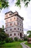 Edificios viejos chinos del turismo Imagen de archivo