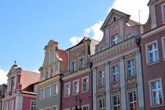 Edificios viejos coloridos de la ciudad fotografía de archivo libre de regalías