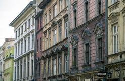 Edificios viejos de la ciudad de Kraków Imagenes de archivo