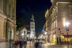 Edificios viejos de la ciudad de Kraków Fotos de archivo libres de regalías