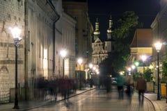 Edificios viejos de la ciudad de Kraków Imágenes de archivo libres de regalías