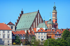 Edificios viejos de la ciudad de Varsovia Fotografía de archivo libre de regalías