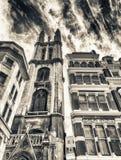 Edificios viejos de Londres, Reino Unido Imagenes de archivo