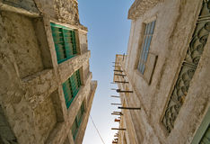 Edificios viejos de Souq Waqif del mercado de Doha Fotografía de archivo libre de regalías