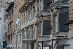 Edificios viejos en Albany Nueva York Foto de archivo libre de regalías