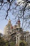 Edificios viejos en Buenos Aires Fotos de archivo libres de regalías