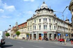 Edificios viejos en Cluj-Napoca, Transilvania Imagen de archivo