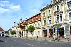 Edificios viejos en Cluj-Napoca, Transilvania Imagen de archivo libre de regalías