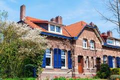 Edificios viejos en Heerlen, los Países Bajos foto de archivo libre de regalías