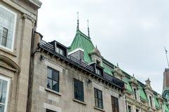 Edificios viejos en la ciudad de Quebec céntrica Fotografía de archivo