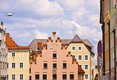 Edificios viejos en Landshut, Alemania Imagenes de archivo