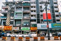 Edificios viejos en Rangún Fotografía de archivo