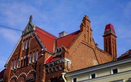 Edificios viejos en Vyborg, Rusia Imagen de archivo libre de regalías
