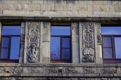 Edificios viejos en Vyborg, Rusia Foto de archivo